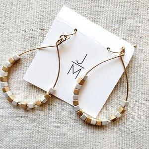 New. Gold and Silver Teardrop Hoop Earrings